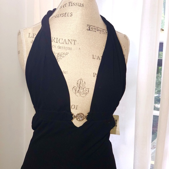 bb2d1f561bf Versace for Saks Fifth Avenue Black Dress